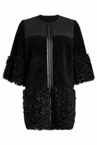 RED Valentino Lambskin Coat with Shearling