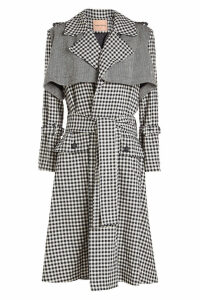 Maggie Marilyn Be Strong and Courageous Wool Trench Coat