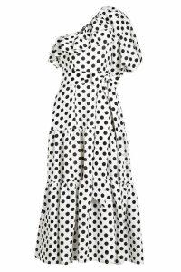 Lisa Marie Fernandez Arden Double Ruffle Printed Linen Dress