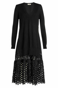 N °21 Wool Dress with Cut-Out Pattern