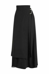 Victoria Beckham Wrap Midi Skirt