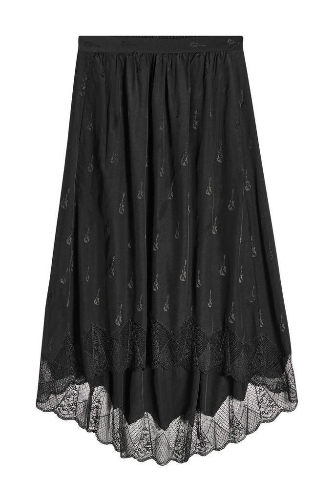 Zadig & Voltaire Joslin Jacquard Silk Midi Skirt