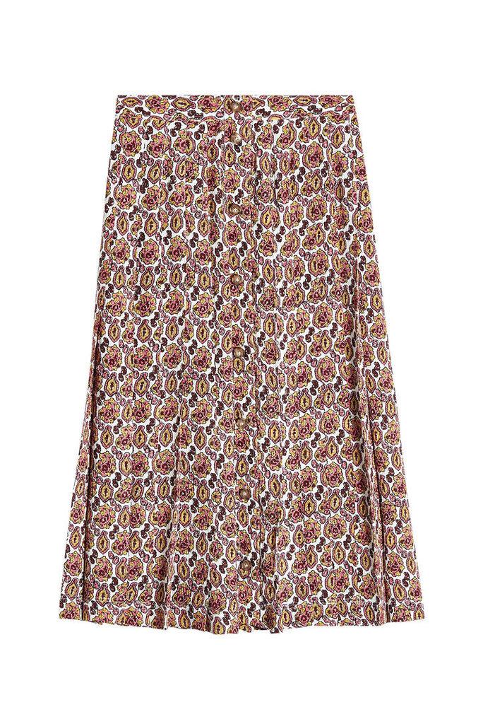 Victoria Beckham Printed Silk Skirt