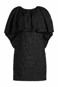 CALVIN KLEIN 205W39NYC Embossed Dress with Cape