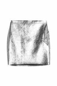 Balmain Metallic Mini Skirt with Embellishment