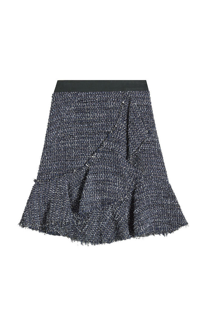 Karl Lagerfeld Sparkle Boucle Skirt with Wool