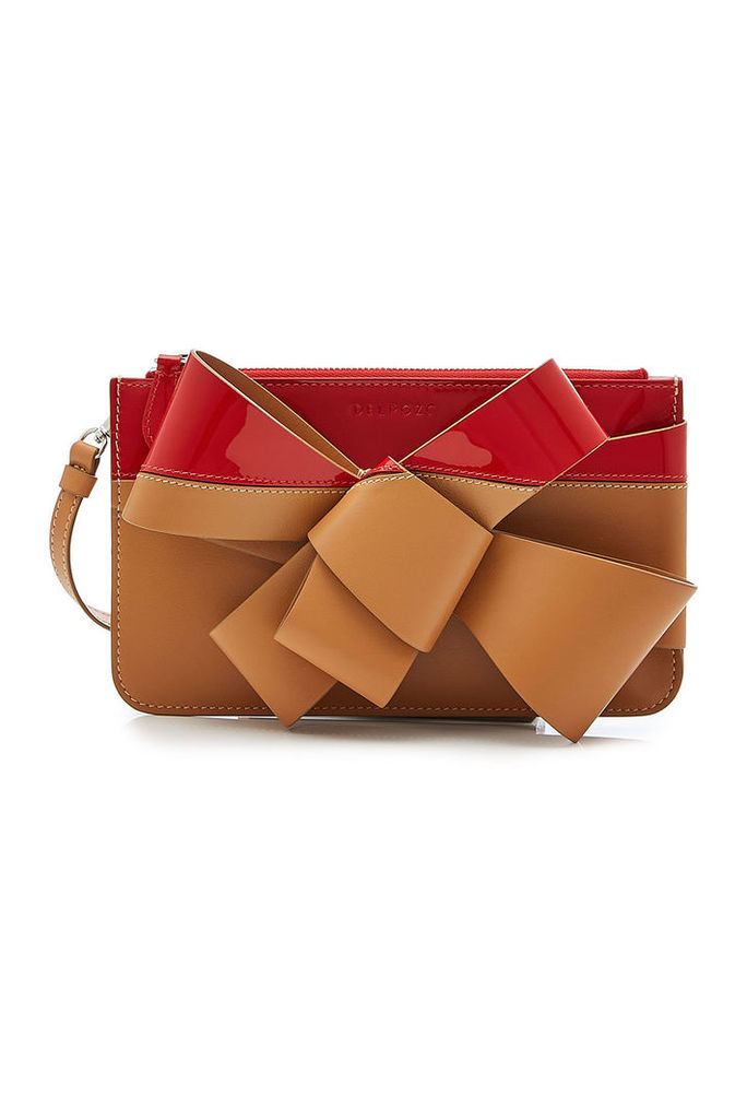 Delpozo Bow Leather Clutch