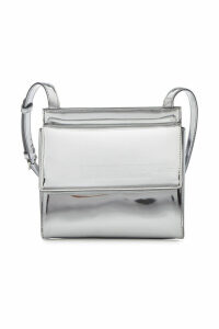 CALVIN KLEIN 205W39NYC Folder Crossbody Metallic Leather Shoulder Bag
