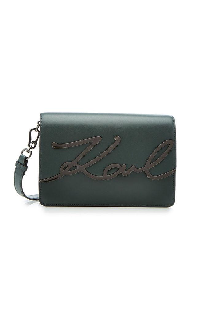 Karl Lagerfeld Karl Leather Shoulder Bag