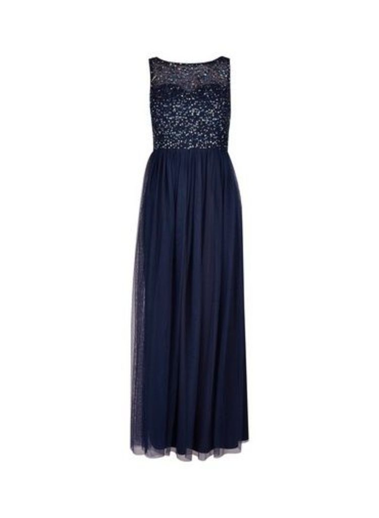 Womens **Showcase Navy 'Harper' Maxi Dress- Blue, Blue