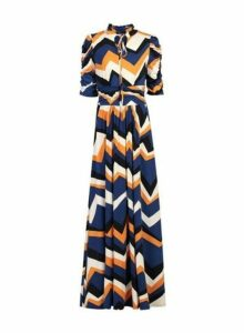 Womens *Jolie Moi Multi Coloured Pattern Maxi Dress- Blue, Blue