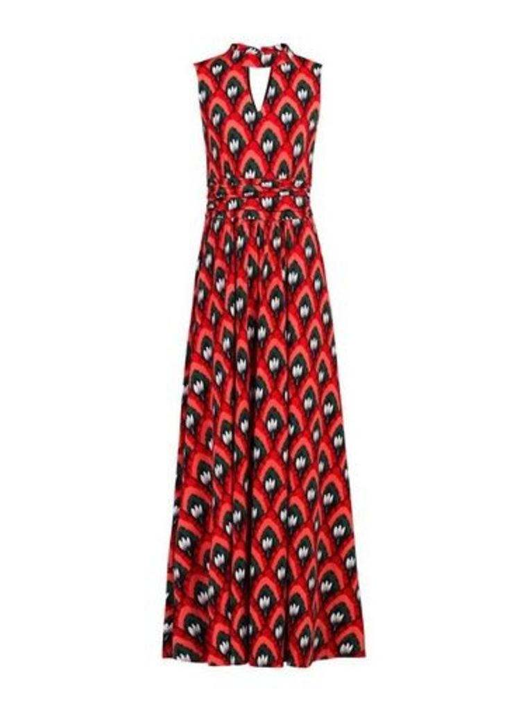Womens *Jolie Moi Red Turtleneck Maxi Dress- Red, Red