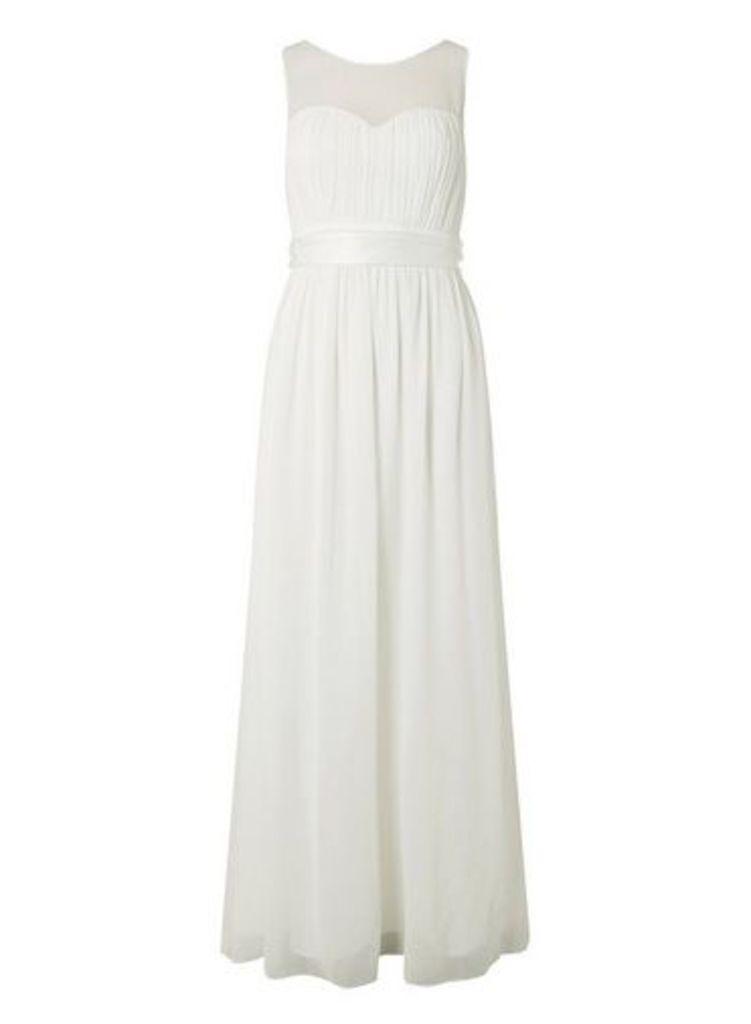 Womens **Showcase Bridal Ivory 'Willow' Maxi Dress- White, White
