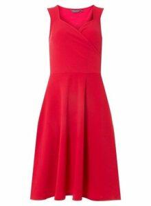 Womens **Tall Pink Wrap Dress- Pink, Pink