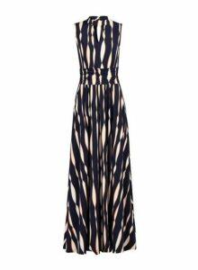 Womens *Jolie Moi Navy Turtleneck Maxi Dress- Blue, Blue