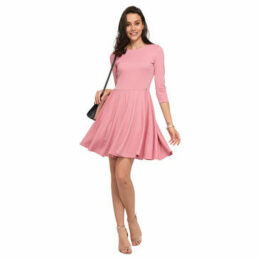 Cuplé  Skater dress  women's Dress in Pink