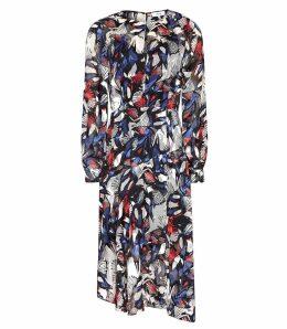 Reiss Aria - Burnout Printed Midi Dress in Multi, Womens, Size 16