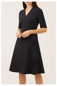 Womens Hobbs Navy Courtney Dress -  Blue