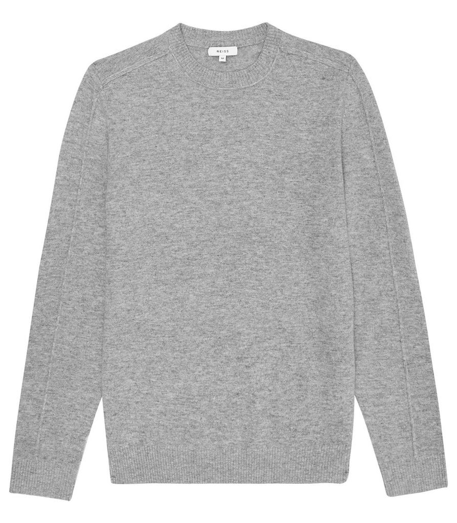 Reiss Bothwell - Seam Detail Long Sleeved Top in Grey, Mens, Size XXL