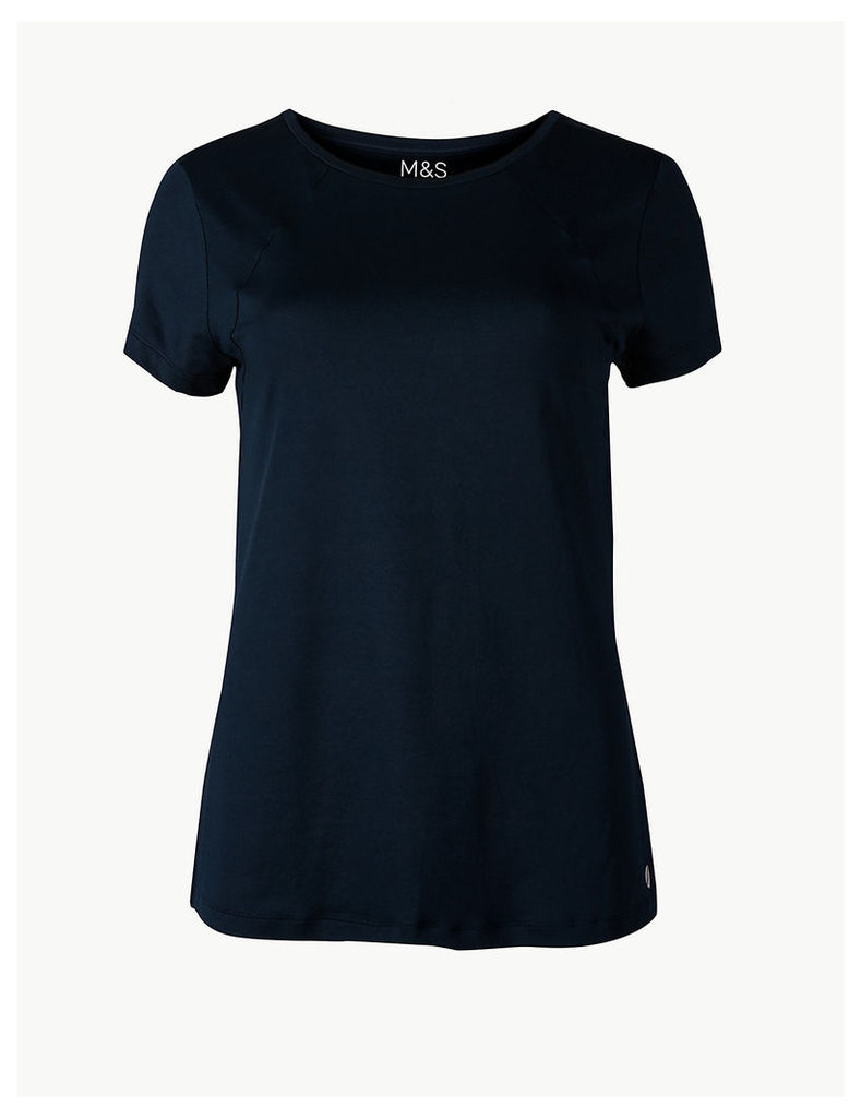 M&S Collection Quick Dry Round Neck Short Sleeve Top