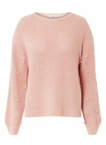 Womens **Only Pink Pearl Jumper- Pink, Pink