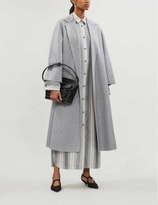 Max Mara Women's Light Grey Labbro Cashmere Coat
