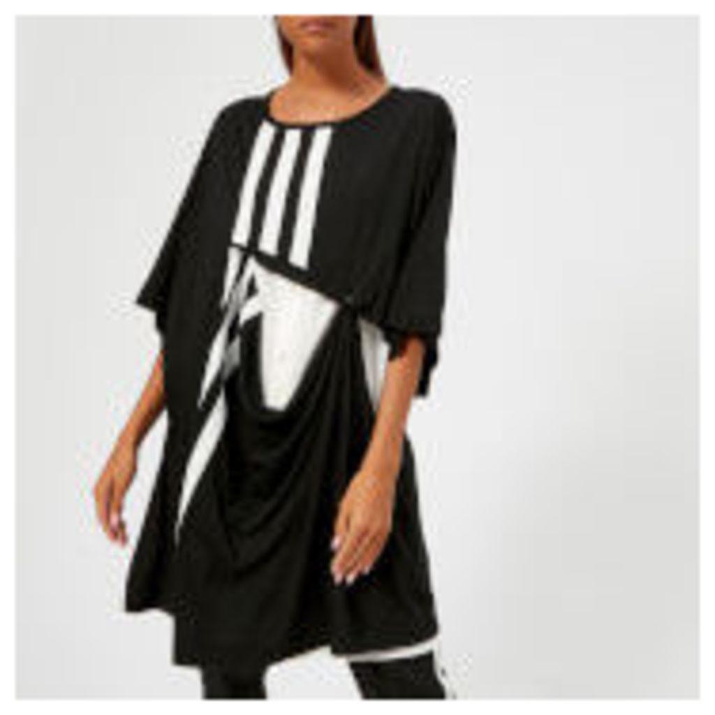 Y-3 Women's 3 Stripe Layered T-Shirt - Black/Core White