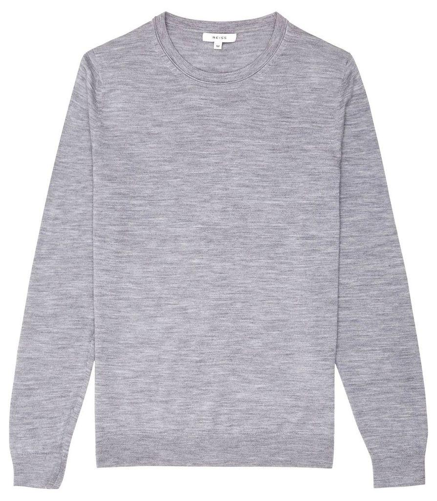 Reiss Wessex - Merino Wool Jumper in Soft Grey, Mens, Size XXL