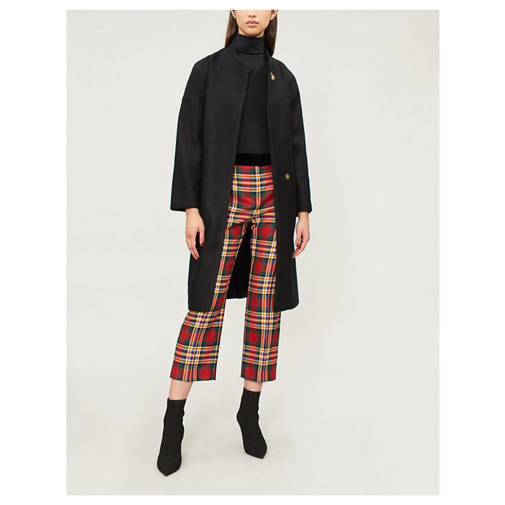 Barile wool-blend wrap coat