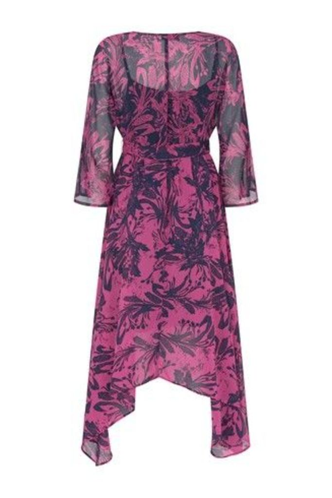 Womens Mint Velvet Pink Connie Mixed Print Wrap Dress -  Pink