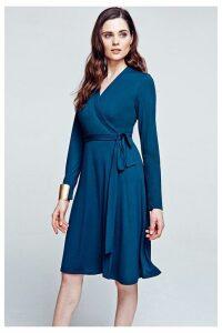 Womens HotSquash Woodland Teal The Wrap Dress -  Blue