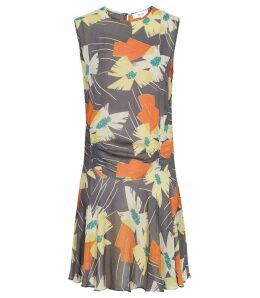 Reiss Remi - Floral Printed Dress in Multi, Womens, Size 16