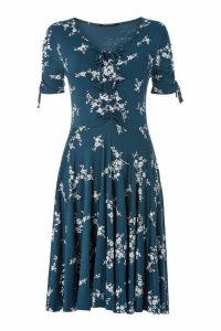Floral V-Neck Short Sleeve Dress