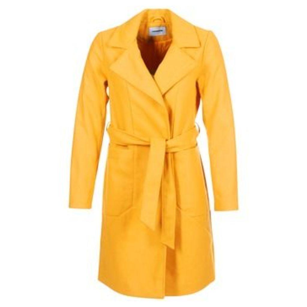 Noisy May  NMDIDO  women's Coat in Yellow