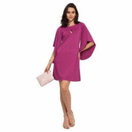 Cuplé  Batwing sleeves dress  women's Dress in Pink