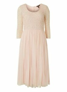 Womens **Showcase Blush 'Eloise' Skater Dress- Pink, Pink