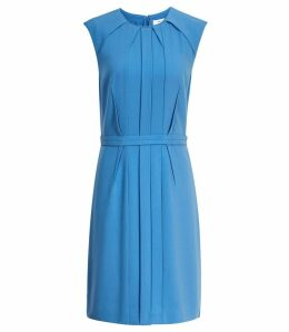 Reiss Nala - Tailored Dress in Antique Blue, Womens, Size 16