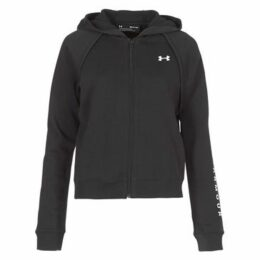 Under Armour  RIVAL FLEECE FZ HOODIE  women's Sweatshirt in Black