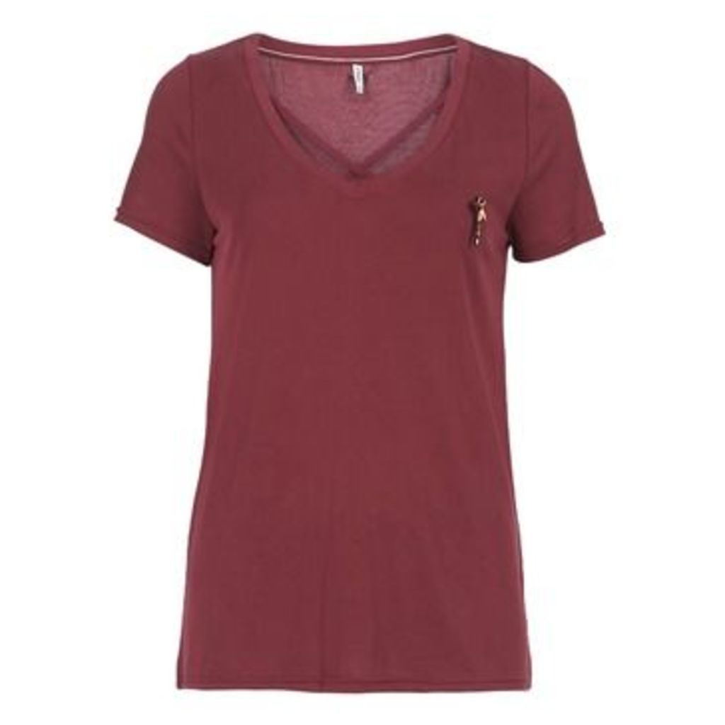 Only  ONLMILLE  women's T shirt in Red