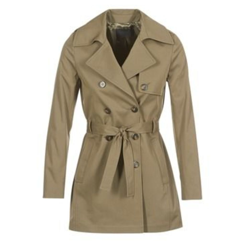 Ikks  INTENDE  women's Trench Coat in Green