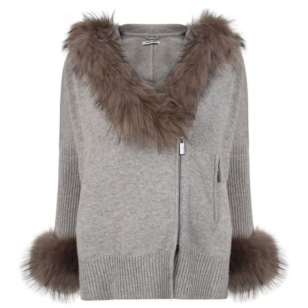 MAX ET MOI Niagra Fur Cardigan