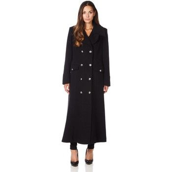 De La Creme  Long Military Wool Cashmere Winter Coat  women's Coat in Black