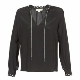 MICHAEL Michael Kors  SCALLP GRMT CHAIN TOP  women's Blouse in Black