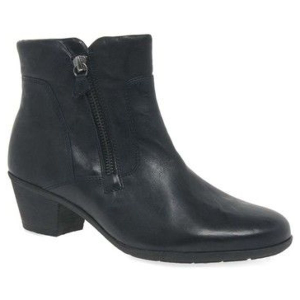 Gabor  Selina Womens Zip Classic Leather Ankle Boots  women's Low Ankle Boots in Black