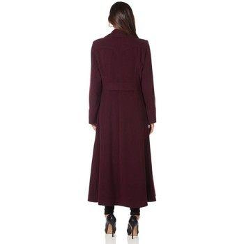 De La Creme  Long Military Wool Cashmere Winter Coat  women's Coat in Red