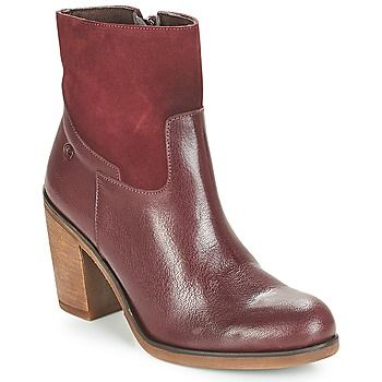 Casual Attitude  WASRAH  women's Low Ankle Boots in Red