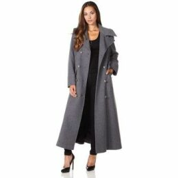De La Creme  Long Military Wool Cashmere Winter Coat  women's Coat in Grey
