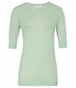 Reiss Amelia - Wool Blend  Jumper in Soft Green, Womens, Size XXL