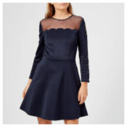 Ted Baker Women's Kikoh Mesh Panelled Skater Dress - Navy