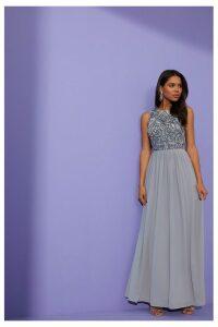 Womens Angeleye Zip Embellished Dress -  Grey